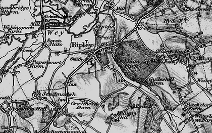 Old map of Ripley in 1896