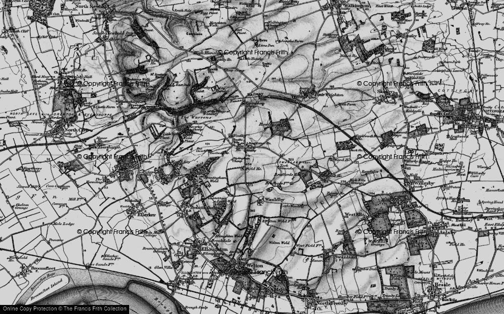 Old Map of Riplingham, 1895 in 1895