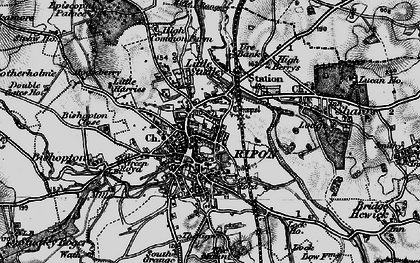 Old map of Ripon in 1898
