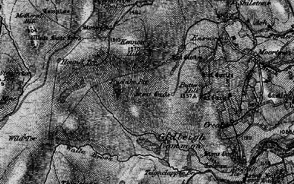 Old map of White Moor Stone in 1898