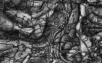 Old map of Ripponden in 1896