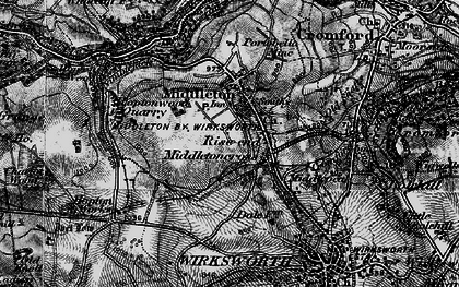 Old map of Rise End in 1897