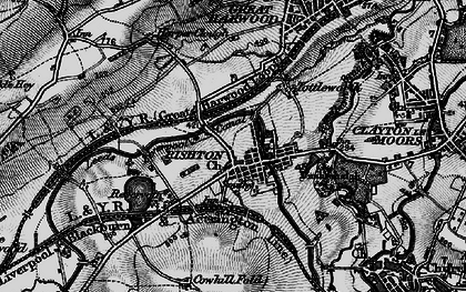 Old map of Rishton in 1896