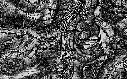 Old map of Rishworth in 1896