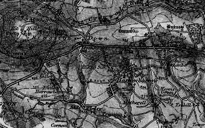 Old map of Rising Sun in 1896