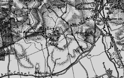Old map of Risley in 1895