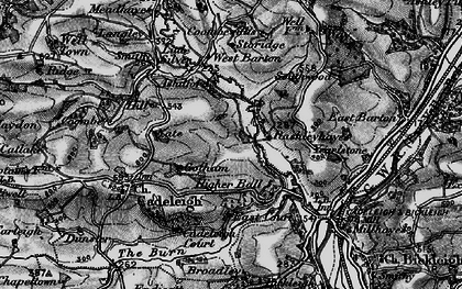 Old map of River Dart in 1898