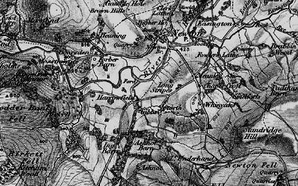 Old map of River Hodder in 1896