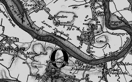 Old map of River Severn in 1896