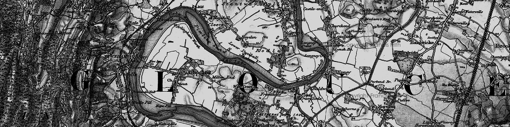 Old map of Wick Court in 1896