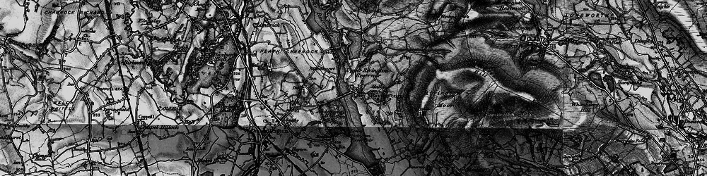 Old map of Lead Mines Clough in 1896