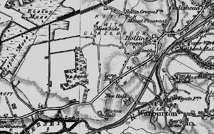 Old map of Rixton in 1896