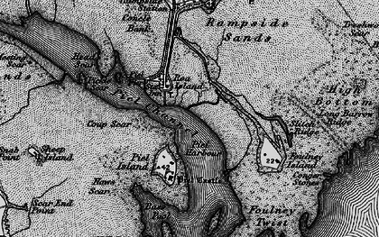 Old map of Roa Island in 1897
