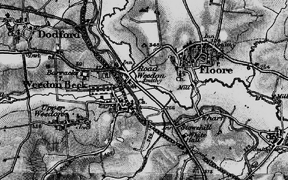 Old map of Road Weedon in 1898