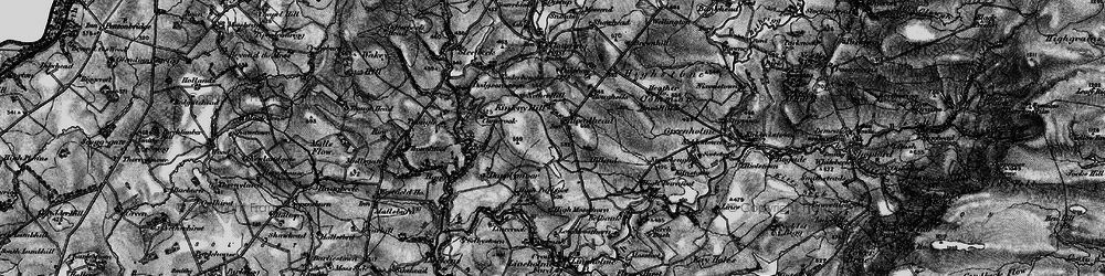 Old map of Whitberry Burn in 1897