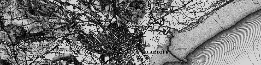 Old map of Roath in 1898