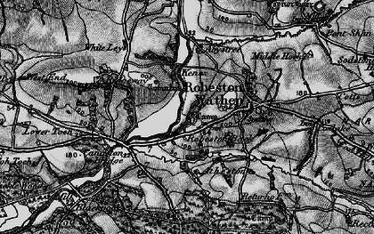 Old map of Abystree in 1898