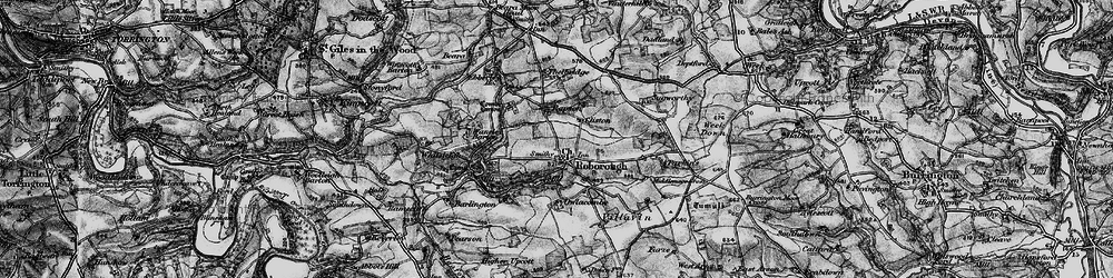 Old map of Whitsley Barton in 1898