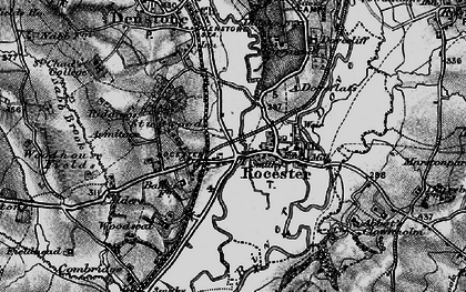 Old map of Abbotsholme School in 1897