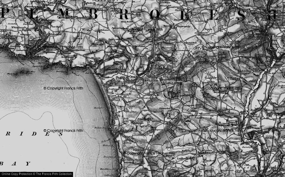 Old Map of Historic Map covering Woodhawk in 1898