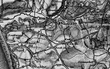 Old map of Roch in 1898