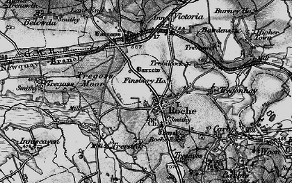 Old map of Roche in 1895