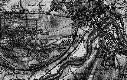 Old map of Rochester in 1895
