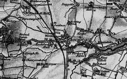 Old map of Rochford in 1896