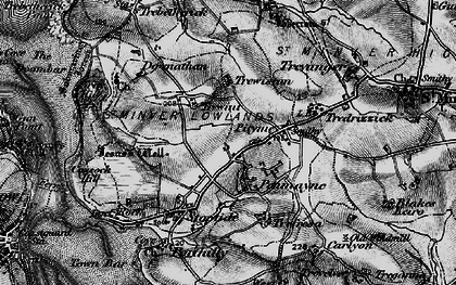 Old map of Rock in 1895
