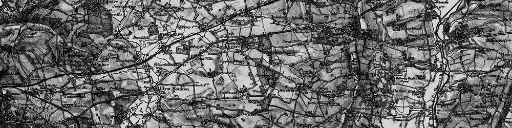 Old map of Rockbeare in 1898