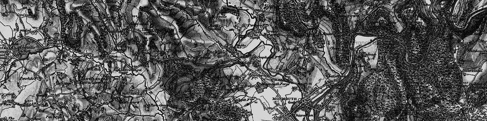 Old map of Amberley Court in 1896