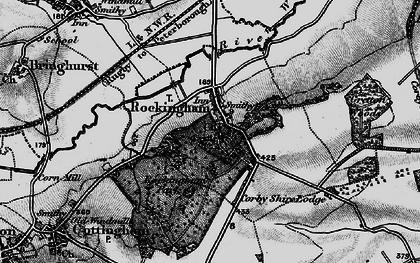 Old map of Rockingham in 1898