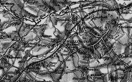 Old map of Rockwell Green in 1898