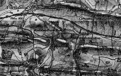 Old map of Wyke Wood in 1897
