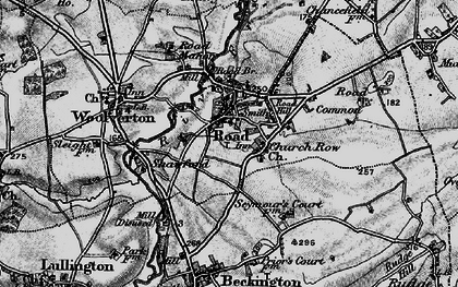 Old map of Rode in 1898