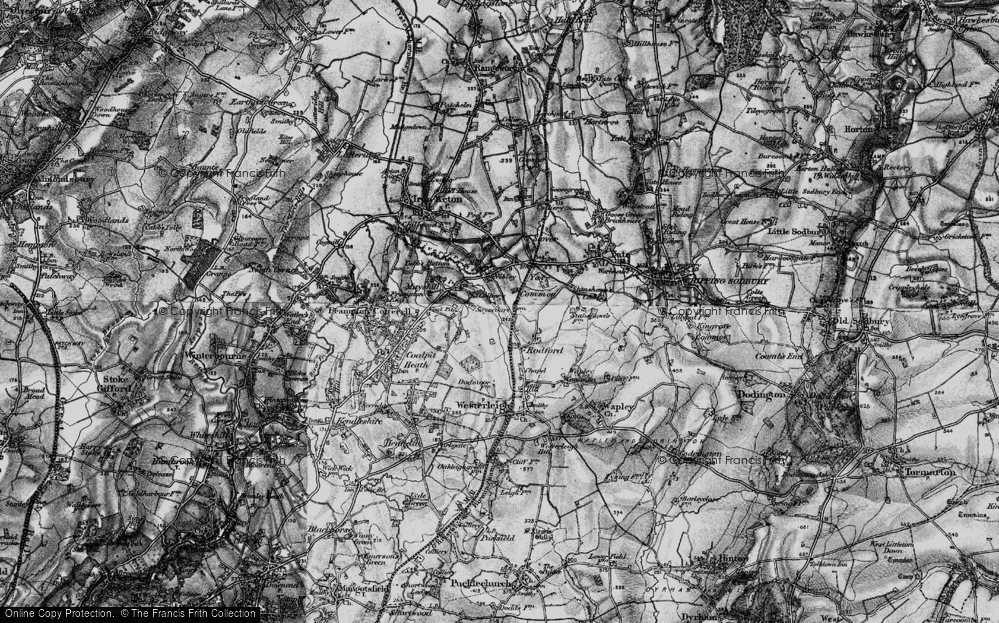 Old Map of Historic Map covering Westerleigh Common in 1898