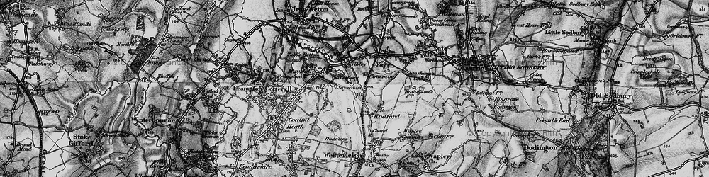 Old map of Westerleigh Common in 1898