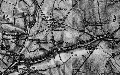 Old map of Windmill Tump (Long Barrow) in 1896