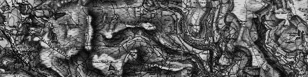 Old map of Widdop Gate in 1896