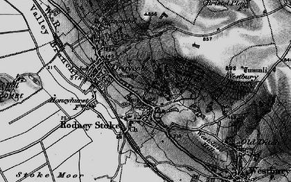 Old map of Rodney Stoke in 1898