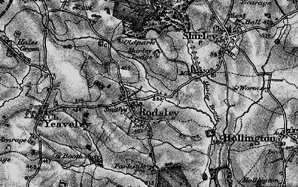 Old map of Rodsley in 1897