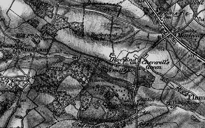 Old map of Roe End in 1896