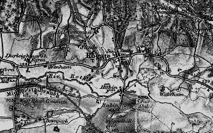 Old map of Rogate in 1895