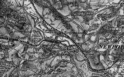 Old map of Rogerstone in 1897