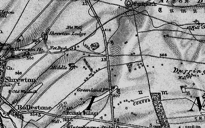 Old map of Airman's Corner in 1898