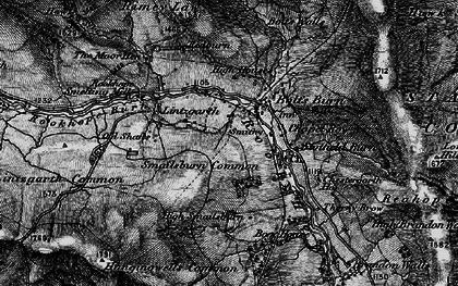 Old map of Rookhope in 1898