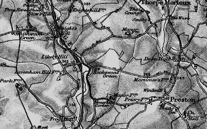Old map of Likely Hill in 1896