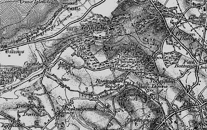 Old map of Roscroggan in 1896