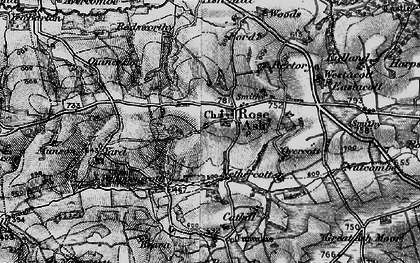 Old map of Whippenscott in 1898