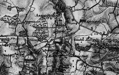 Old map of Assington Thicks in 1896